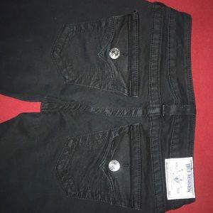 Size 27, black, skinny true religion jeans